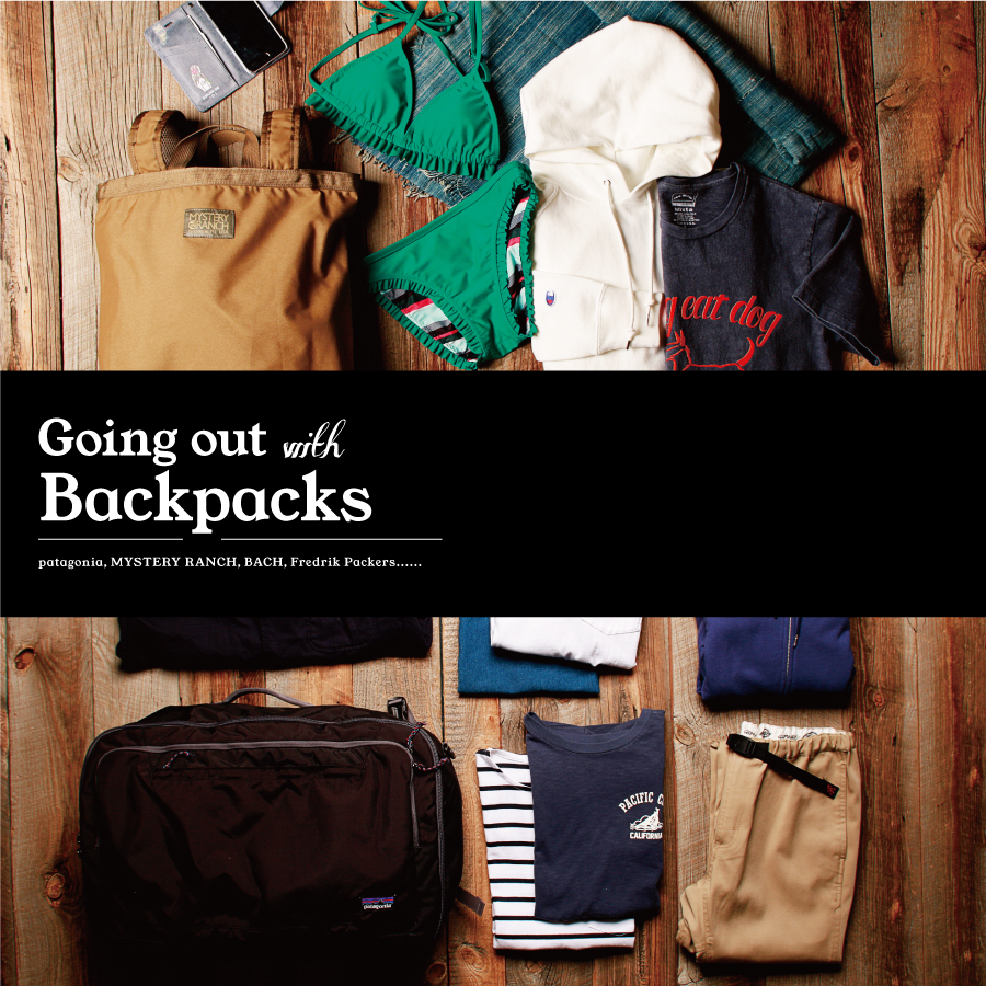Going out with NEW BACKPACKS - 出かけるときの、バッグと中身