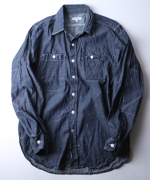 Engineered Garments Work Shirt-Lt.Weight Denim-Indigo